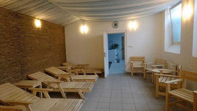 finská sauna - odpočívárna