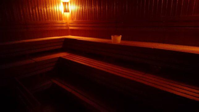 sauna - prohřívárna